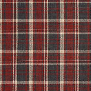 Essentials Red Black Beige Checkered Upholstery Drapery Fabric / Brick Plaid
