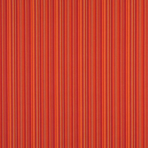 Essentials Outdoor Red Fiesta Orange Stripe Upholstery Fabric