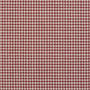 Essentials Red White Upholstery Fabric / Spice Houndstooth