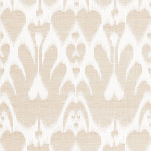 SCHUMACHER LELA COTTON IKAT FABRIC / SAND