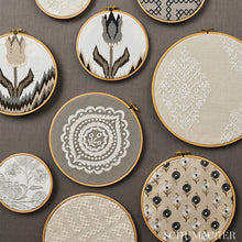 Load image into Gallery viewer, SCHUMACHER A MAZE EMBROIDERY FABRIC / SAND