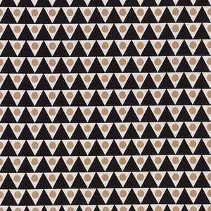 SCHUMACHER PENNANT II INDOOR OUTDOOR FABRIC / SAND & BLACK