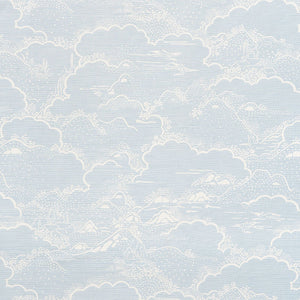 SCHUMACHER KUMO VILLAGE FABRIC / SKY