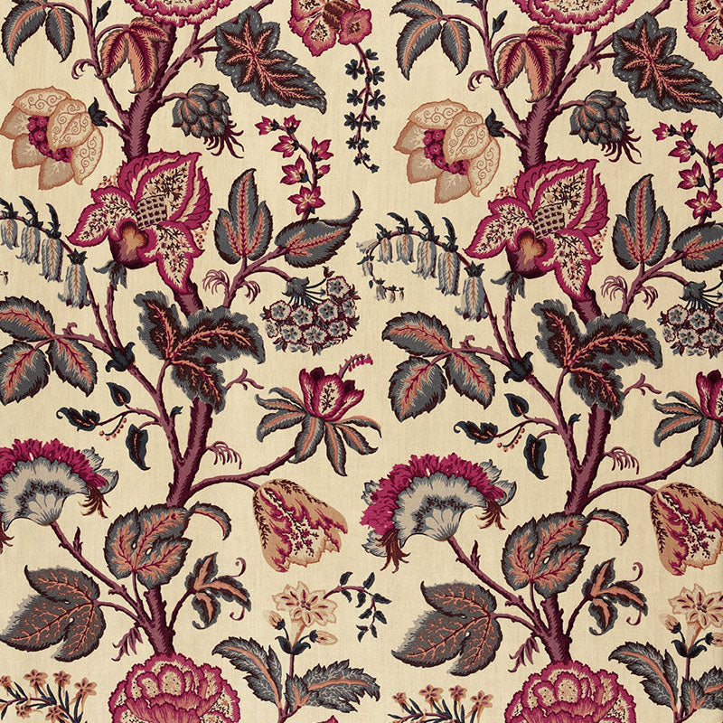 SCHUMACHER TREE OF LIFE FABRIC / SPICE ON LINEN