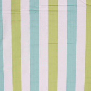 Nautical Cotton Stripe Upholstery Drapery Fabric Olive Teal / Surf RMIL1
