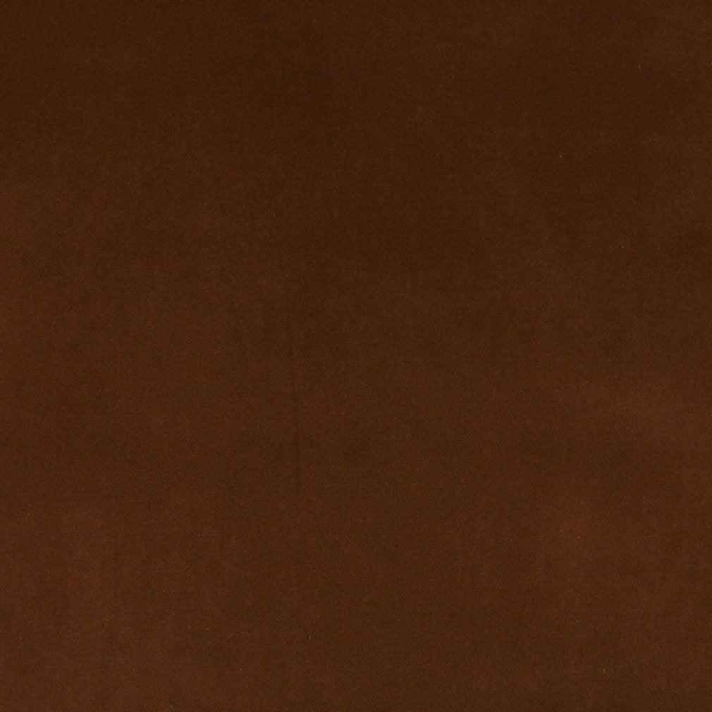 Essentials Cotton Velvet Saddle Brown Upholstery Drapery Fabric