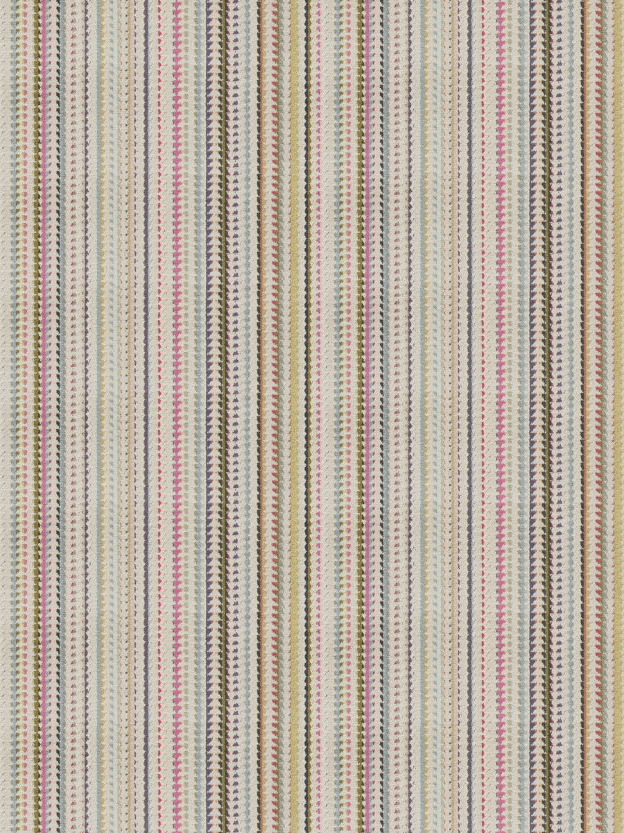 2 Colorways Stripe Multi Color Velvet Upholstery Fabric Green Blue Gray Pink Beige