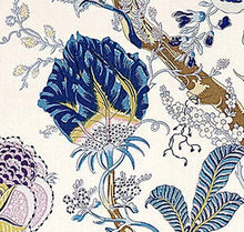 Load image into Gallery viewer, Schumacher Indian Arbre fabric / Hyacinth