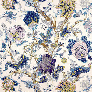 Schumacher Indian Arbre fabric / Hyacinth