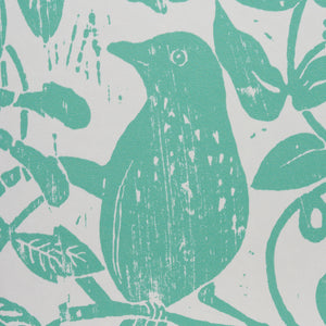 Schumacher Bird & Bee Wallpaper / Seaglass
