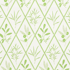 Schumacher Endimione Wallpaper / Leaf