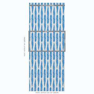 Schumacher Fern Wallpaper / Blue