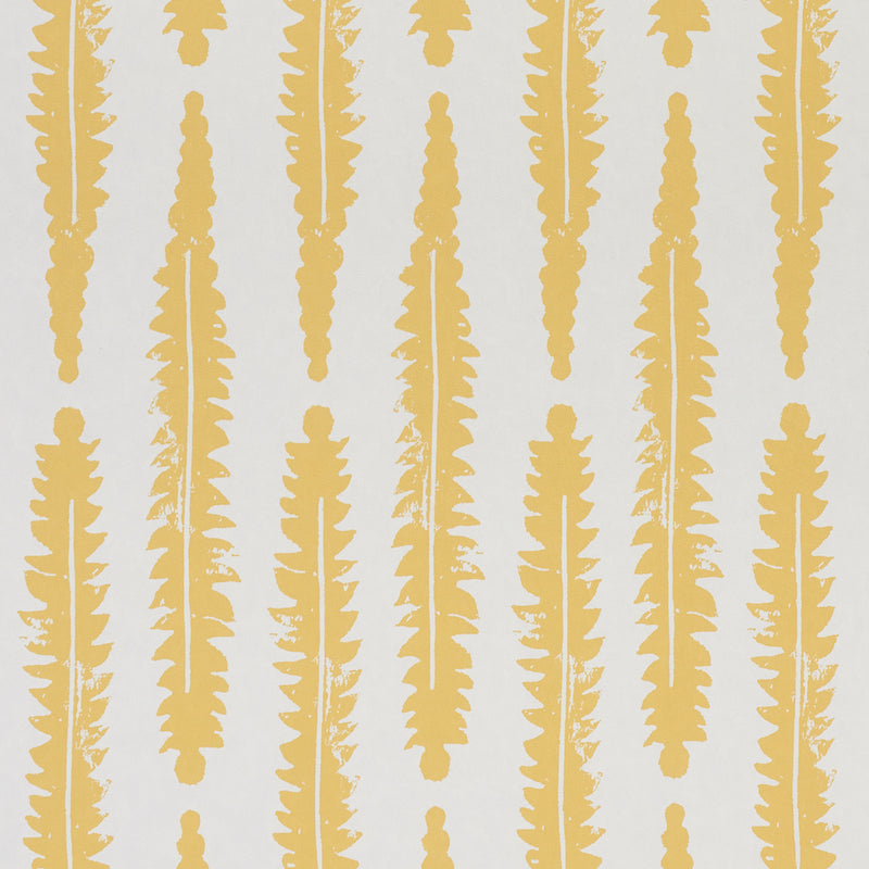 Schumacher Fern Wallpaper / Mustard