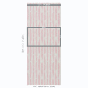 Schumacher Fern Wallpaper / Pink