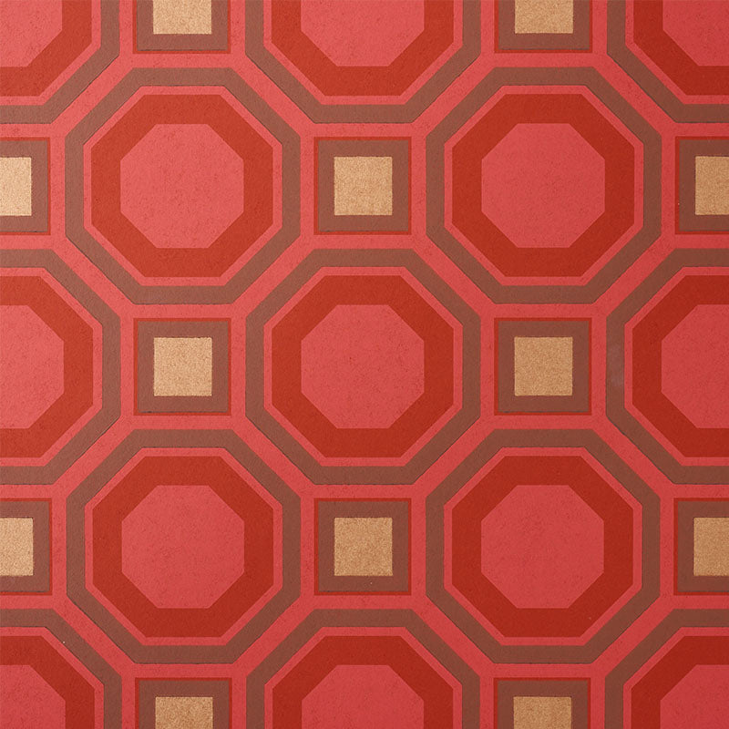 Schumacher Hanover Wallpaper / Ruby