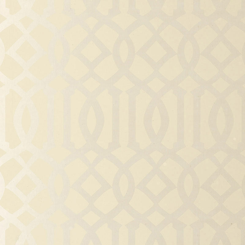 Schumacher Imperial Trellis Wallpaper / Alabaster