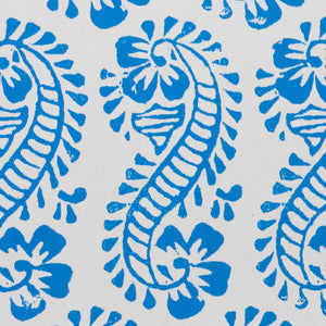 Schumacher Lani Wallpaper / Blue