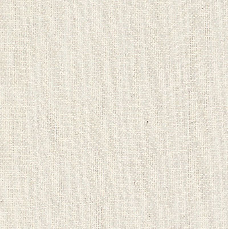 Schumacher Linen Gesso Wallpaper / White