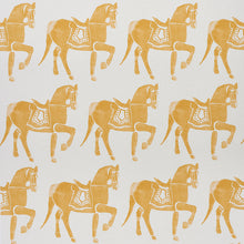Load image into Gallery viewer, Schumacher Marwari Horse Wallpaper / Mustard