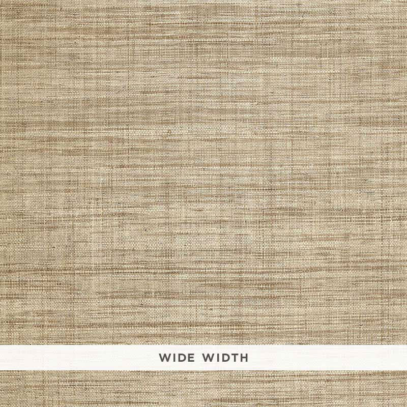 Schumacher Weston Raffia Weave Wallpaper / Grey