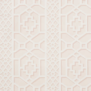 Schumacher Zanzibar Trellis Wallpaper / Blush