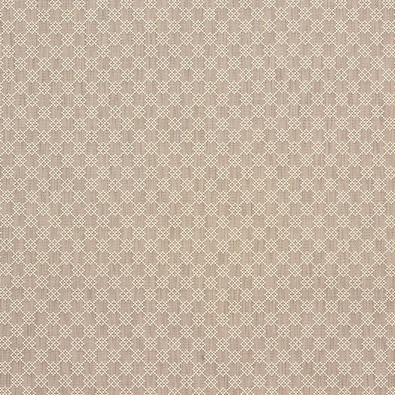 Schumacher Albert Fret Fabric / Stone