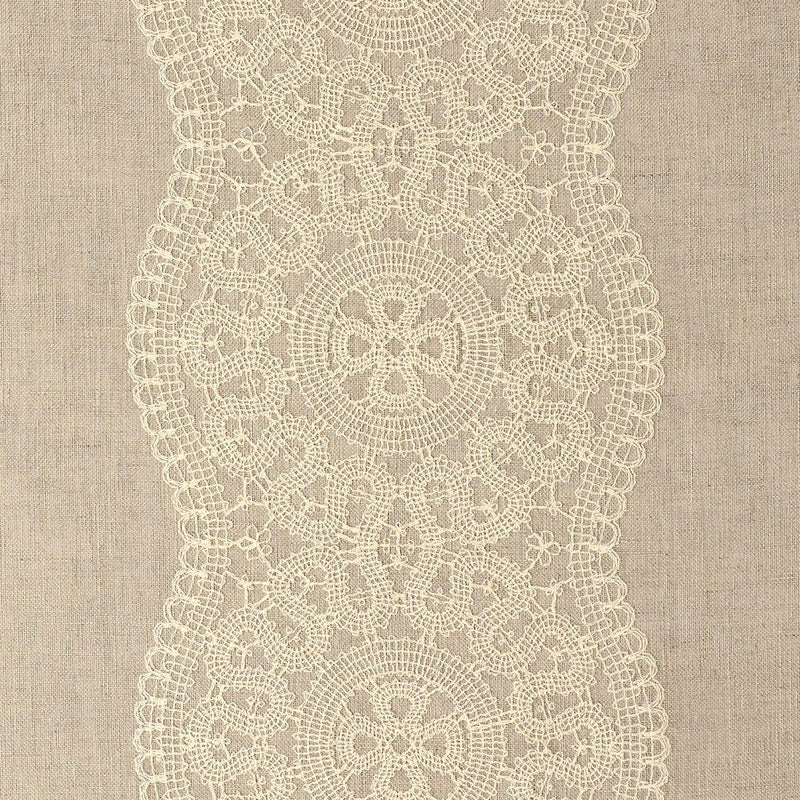 Schumacher Alencon  Fabric / Natural