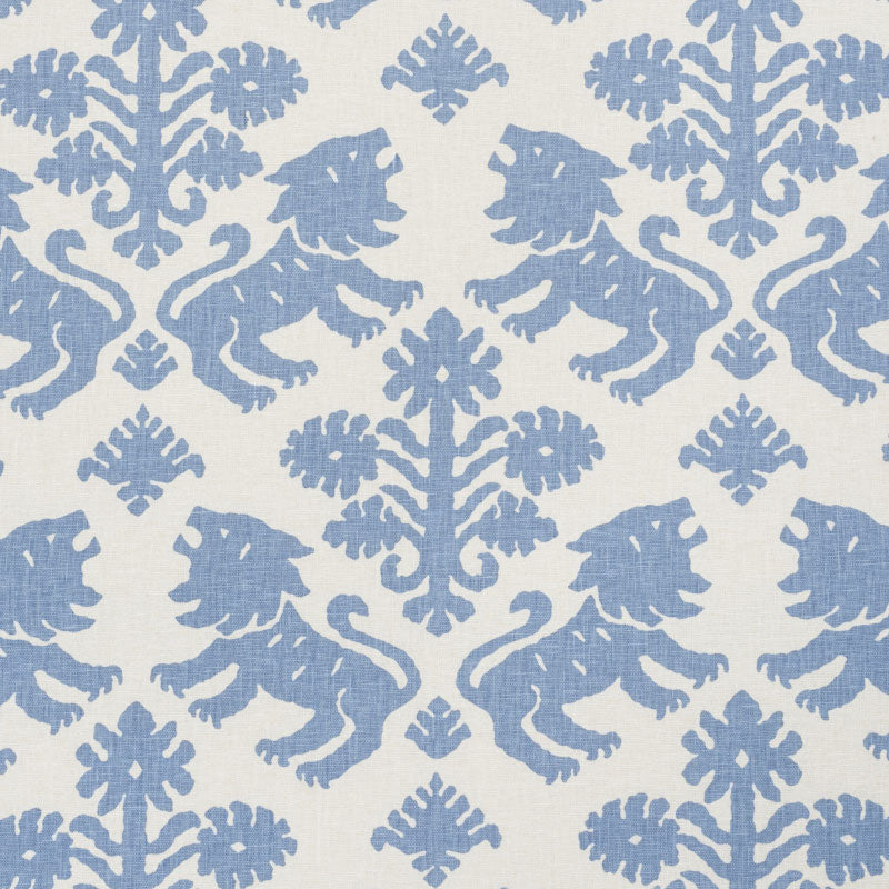 Schumacher Regalia Fabric / Blue