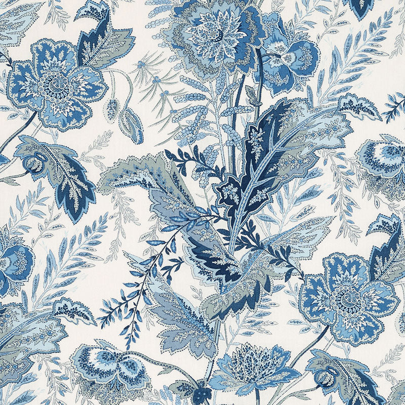 Schumacher Sandoway Vine Fabric / Delft