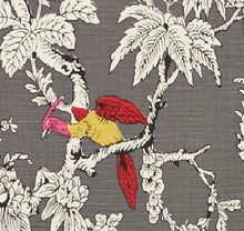 Load image into Gallery viewer, Schumacher Chinoiserie Moderne fabric / Graphite