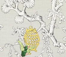 Load image into Gallery viewer, Schumacher Chinoiserie Moderne fabric /Soft grey