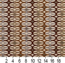 Load image into Gallery viewer, Essentials Sienna Brown Gray Tan Beige Geometric Upholstery Fabric / Harvest Interlock