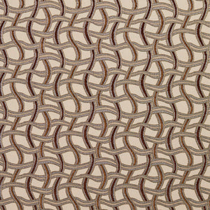 Essentials Sienna Brown Gray Tan Beige Wavy Trellis Upholstery Fabric / Harvest Maze