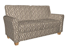 Load image into Gallery viewer, Essentials Sienna Brown Gray Tan Beige Wavy Trellis Upholstery Fabric / Harvest Maze