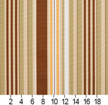 Load image into Gallery viewer, Essentials Sienna Salmon Beige Coral White Stripe Upholstery Drapery Fabric