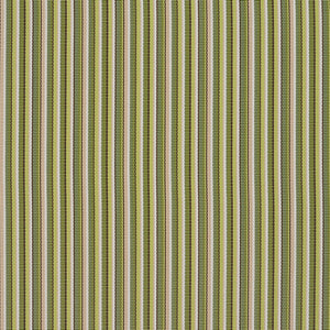 Essentials Outdoor Marine Upholstery Stripe Fabric Lime Green Coral / Kiwi