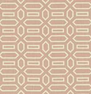 SCHUMACHER PAVILLION FABRIC / TEMPLE PINK
