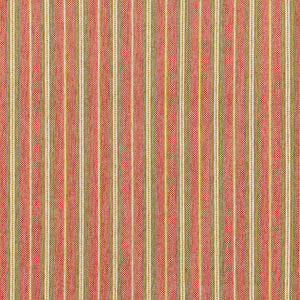 SCHUMACHER TOSCANA STRIPE FABRIC / TUSCAN RED