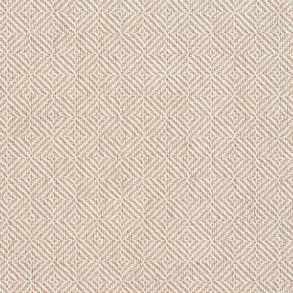 Essentials Crypton Tan Beige Geometric Diamond Upholstery Fabric / Parchment