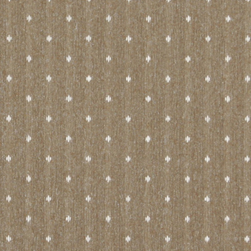 Essentials Tan Beige Upholstery Fabric / Toast Dot