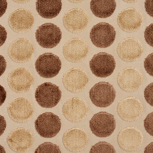 Essentials Cut Velvet Tan Cream Ivory Geometric Сircle Upholstery Drapery Fabric
