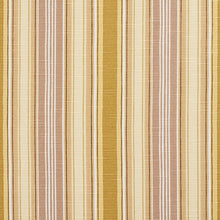 Load image into Gallery viewer, Essentials Tan Goldenrod Beige Brown White Stripe Upholstery Drapery Fabric