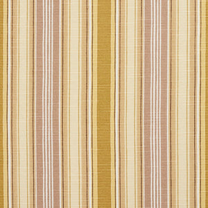 Essentials Tan Goldenrod Beige Brown White Stripe Upholstery Drapery Fabric
