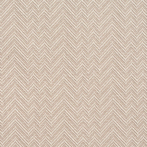 Essentials Crypton Tan Ivory Chevron Geometric Upholstery Fabric / Flax