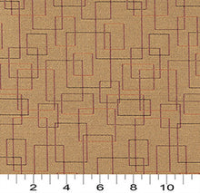 Load image into Gallery viewer, Essentials Mid Century Modern Mustard Geometric Rectangles Upholstery Fabric / Topaz