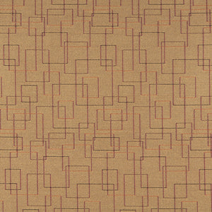 Essentials Mid Century Modern Mustard Geometric Rectangles Upholstery Fabric / Topaz