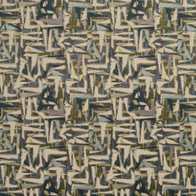 Load image into Gallery viewer, Essentials Teal Mauve Aqua Lime Beige Upholstery Fabric / Meadow Abstract
