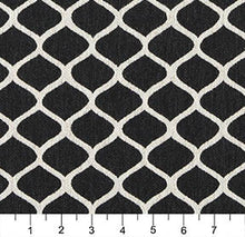 Load image into Gallery viewer, Essentials Heavy Duty Upholstery Trellis Fabric / Black White