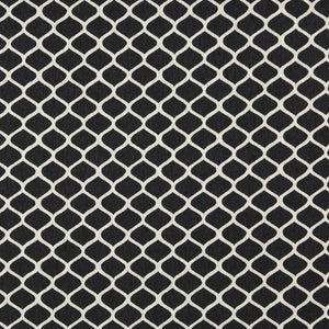Essentials Heavy Duty Upholstery Trellis Fabric / Black White