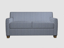Load image into Gallery viewer, Essentials Heavy Duty Upholstery Trellis Fabric / Blue White